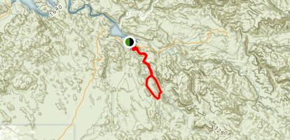 Lower La Barge Box Trail Map