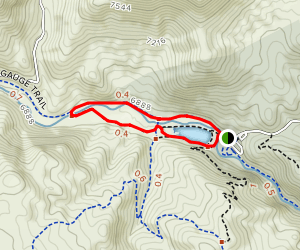 Narrow Gauge and North Fork View Loop Map