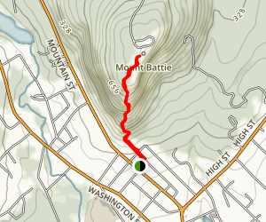 Mount Battie Trail Map