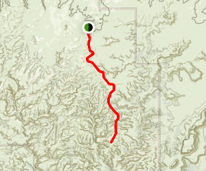 Salt Creek and Horse Canyon Map