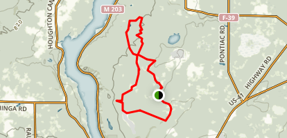 Maasto Hiihto / Churning Rapids Loop Map
