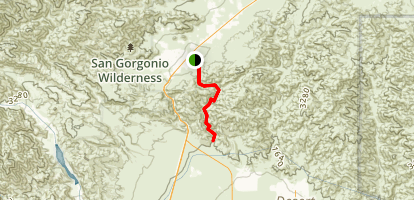 Big Morongo Canyon Trail - Shorter Option Map