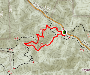 Raven's Roost and Oxen Draw Loop Trail Map