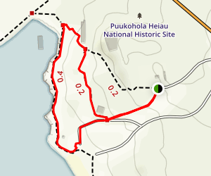 Puukohola Heiau National Historical Site Trail Map