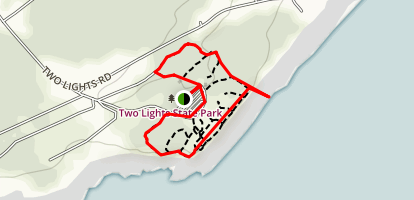 Two Lights State Park Loop Map