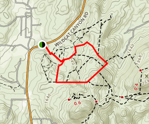 Cinega Trail to Woodward Ridge Trail Loop Map
