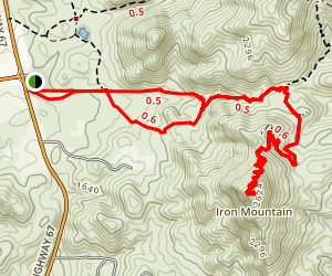 Iron Mountain Trail Map