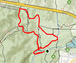 Oak Canyon to Grasslands Trail Map