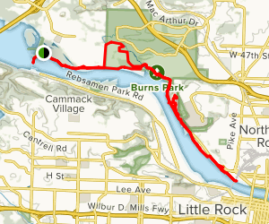 Trail to Downtown Map