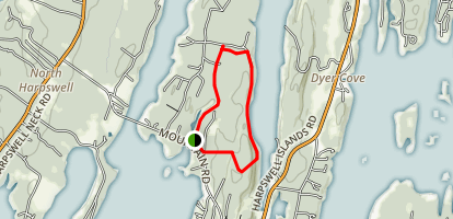 Harpswell Cliffs and Long Reach Mountain Trail Map