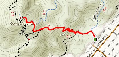 Cowles Mountain from Barker Way Map