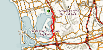 Mission Bay Trail Map
