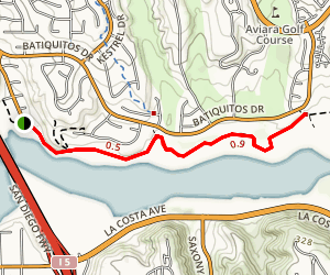 Batiquitos Lagoon Trail Map