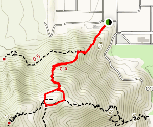 North Lykken Trail from W. Crescent Drive Map