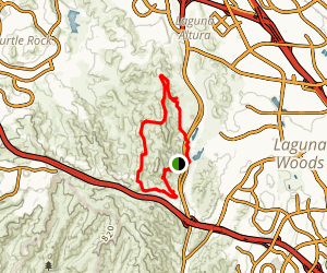 Serrano Ridge West Canyon Trail Loop Map