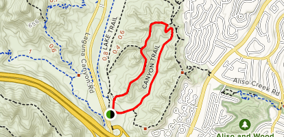 Dilley Preserve Canyon-Mariposa Loop Trail Map