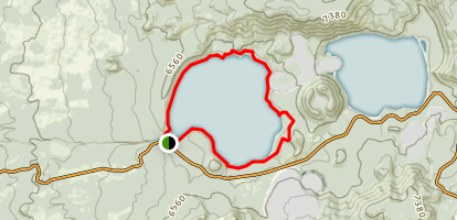 Paulina Lake Loop Trail Map