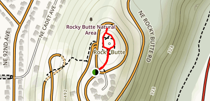 Joseph Wood Hill Park on Rocky Butte Map