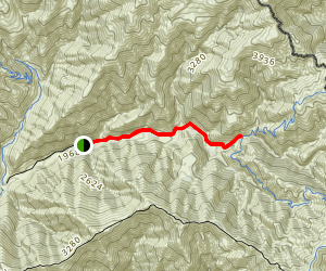 Trabuco Trail Map