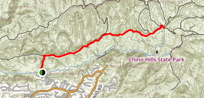 Telegraph Canyon Trail via Rimcrest Entrance Map