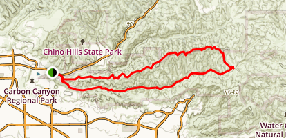Telegraph Canyon North Ridge Loop Trail  Map