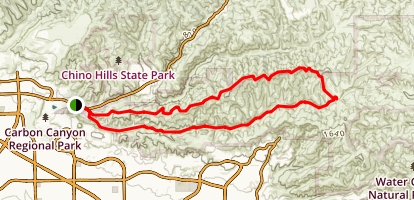 Telegraph Canyon North Ridge Loop Trail [CLOSED] Map