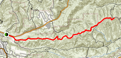 Gilman Peak Trail Map