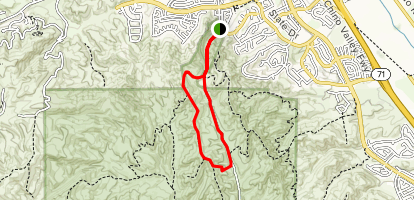 Bane Canyon Short Loop Trail Map
