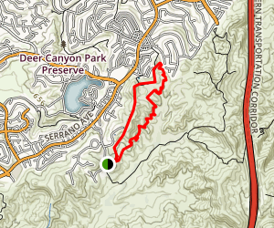 Weir Canyon Trail [CLOSED] Map