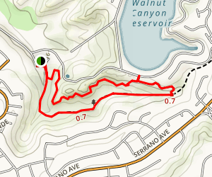 Oak Canyon Bluebird and Wren Trail Map
