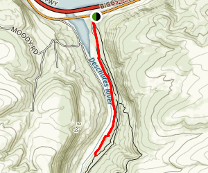 Deschutes River Canyon Trail - Short Version Map