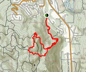 Squak Mountain East Ridge Map