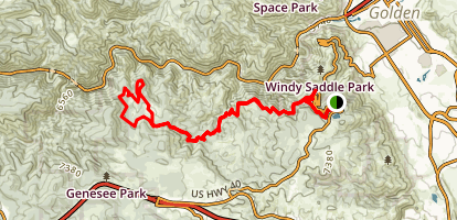 Buffalo Bill Trail to Beaver Brook Trail Map