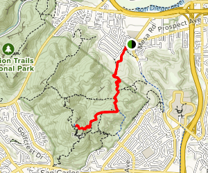 Cowles Mountain from Big Rock Trail Map