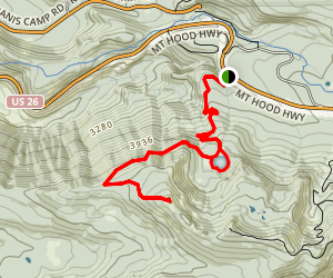 Tom Dick and Harry Mountain Trail Map