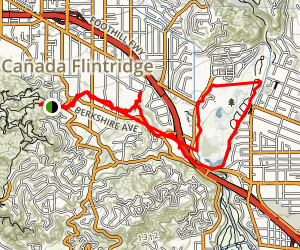 Devils Gate via Flint Canyon Map