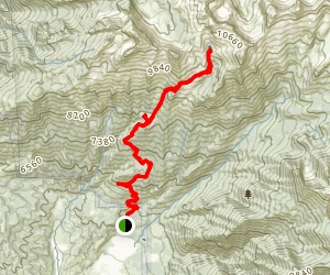 Lone Peak Area to Lake Hardy Map