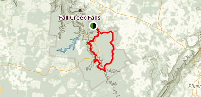 Fall Creek Falls (Upper Loop) Map