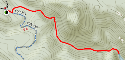 Forsythe Canyon to Waterfall and Gross Reservoir Map