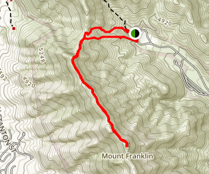 Mount Franklin from McKelligon Canyon Map