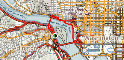Georgetown and Waterfront Map