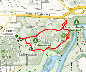 National Arboretum: East Side Map