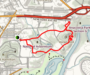 Natoinal Arboretum: East Side Map
