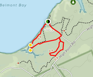Beach and Bay Trail Loop Map