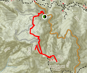 Double Peak Hike Map