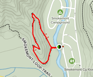 Smokemont Self-Guided Nature Trail Map