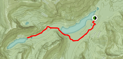 Upper Two Medicine Trail Map