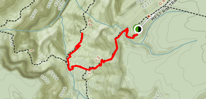 Hermit's Rest Viewpoint  to Santa Maria Spring Map
