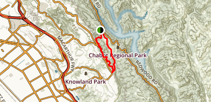 Bort Meadow and Buckeye Trail to Grass Valley Map