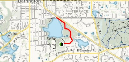 Baker's Lake and Ron Beese Park Map